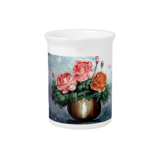 Roses in a Vase Pitchers