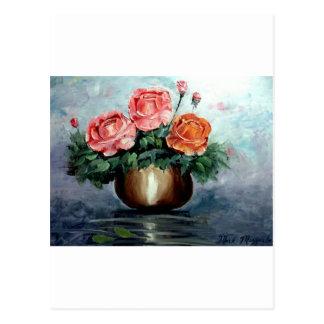 Roses in a Vase Postcard