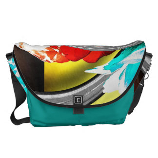 Roses in Abstract Messenger Bag