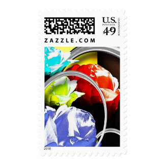 Roses in Abstract Postage Stamps