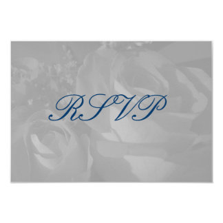 """Roses In Black and White"" - RSVP [a] Card"