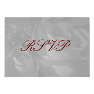 """""""Roses In Black and White"""" - RSVP [a] Card"""