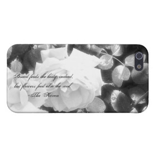 Roses in Black &White-with Koran quote iPhone SE/5/5s Case