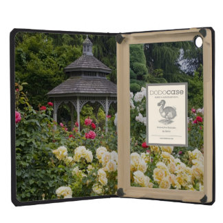 Roses in bloom and Gazebo Rose Garden at the iPad Mini Retina Covers
