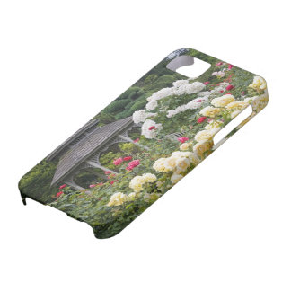 Roses in bloom and Gazebo Rose Garden at the iPhone 5 Case