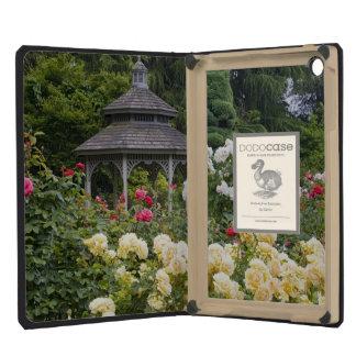 Roses in bloom and Gazebo Rose Garden at the iPad Mini Retina Case