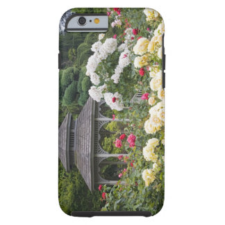 Roses in bloom and Gazebo Rose Garden at the Tough iPhone 6 Case