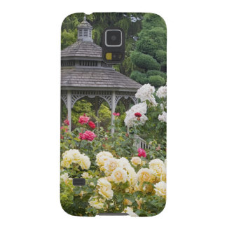 Roses in bloom and Gazebo Rose Garden at the Galaxy S5 Case