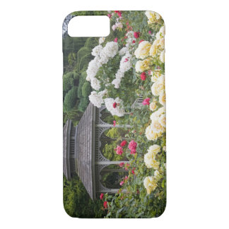 Roses in bloom and Gazebo Rose Garden at the iPhone 8/7 Case