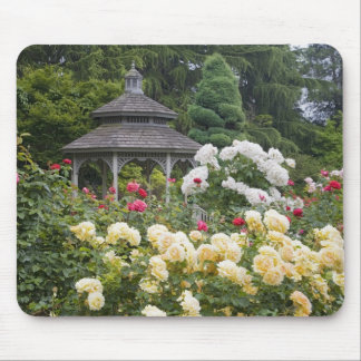 Roses in bloom and Gazebo Rose Garden at the Mouse Pad