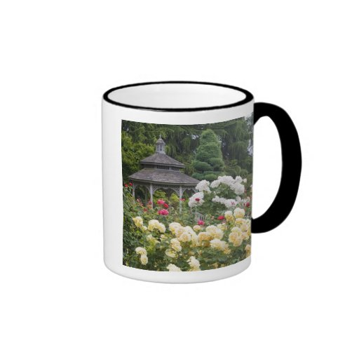 Roses in bloom and Gazebo Rose Garden at the Coffee Mugs