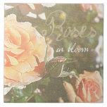Roses in Bloom Ceramic Tile