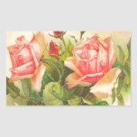 Roses in Bloom Rectangle Sticker
