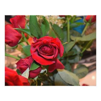 roses in bouquet flyer design