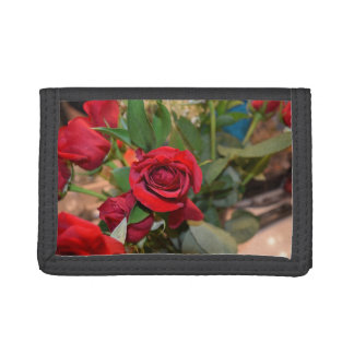 roses in bouquet tri-fold wallet