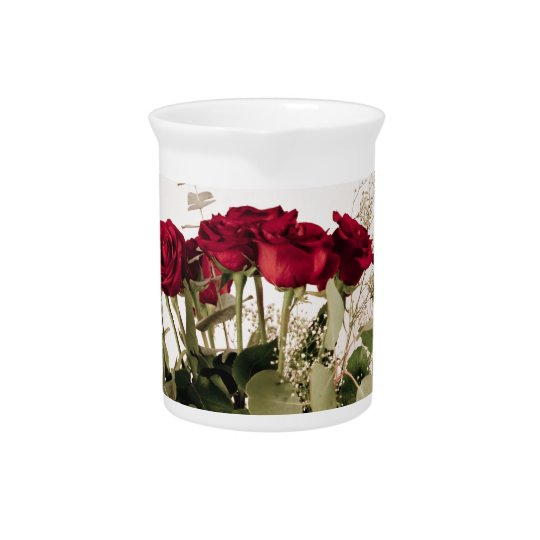 """""""Roses in clear vase"""" collection Drink Pitcher"""