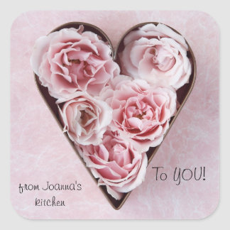 roses in cookie cutter gift stickers
