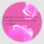 Roses in December Sticker