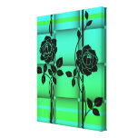 Roses in Green Canvas Canvas Print