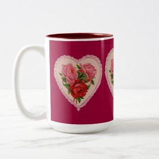 Roses in Heart Mug mug