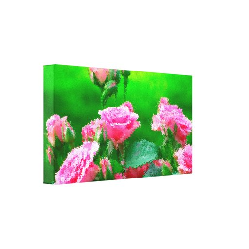"""Roses in Oil Small (24.00"""" x 16.00""""), 1.5"""", Single Canvas Prints"""