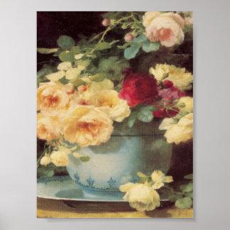 Roses In Porcelain Bowl Emilie Vouga Mother's Day Poster