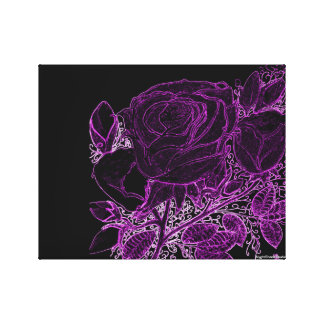 Roses in purple canvas print