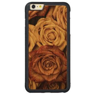 Roses in Sepia Tone Carved Cherry iPhone 6 Plus Bumper Case