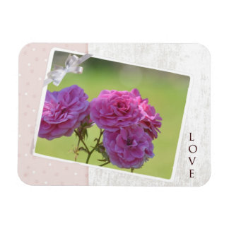 Roses In the Garden Rectangular Photo Magnet