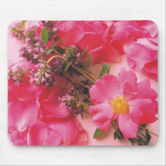 Roses In Thyme Mouse Pad