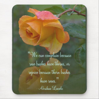 Roses Inspirational Lincoln Quote Mouse Pad