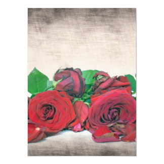 Roses 5.5x7.5 Paper Invitation Card
