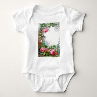 ROSES & JASMINES MONOGRAM BABY BODYSUIT