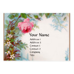 ROSES & JASMINES MONOGRAM GEM grey white Business Card Template