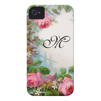 ROSES & JASMINES MONOGRAM iPhone 4 CASES