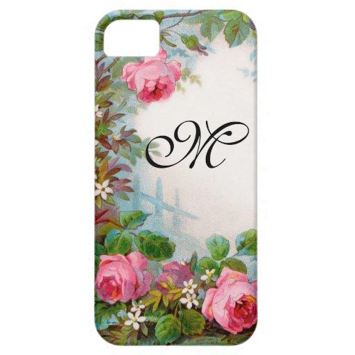 ROSES & JASMINES MONOGRAM iPhone 5 CASES