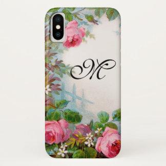 ROSES & JASMINES MONOGRAM iPhone X CASE