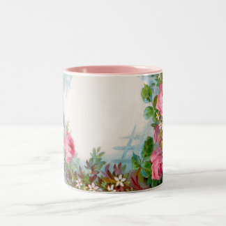 ROSES & JASMINES Two-Tone COFFEE MUG