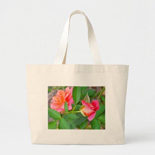 roses.jpg rosado bolsa tela grande