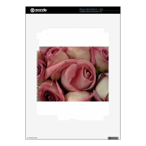 roses.jpg rosado skins para iPad 2