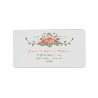 Roses Personalized Address Label