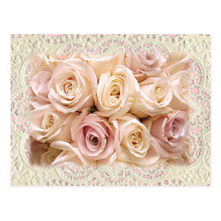 ROSES & LACE by SHARON SHARPE by SHARON SHARPE Postcard