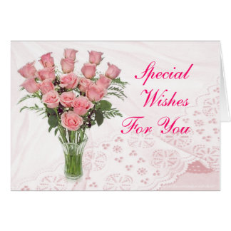 Roses & Lace- customize any occasion Greeting Card
