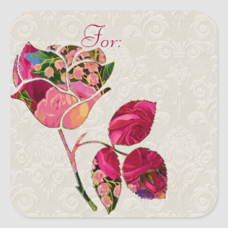 Roses & Lily of the Valley Motif Stickers