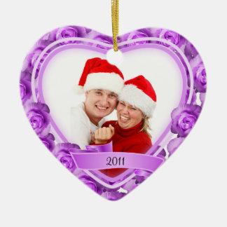Roses/Love~ Photo Christmas Ornament