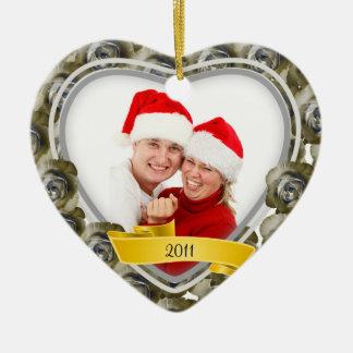 Roses/Love~ Photo Christmas Ornaments