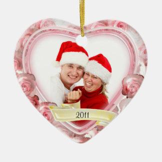 Roses/Love~ Photo Christmas Tree Ornaments