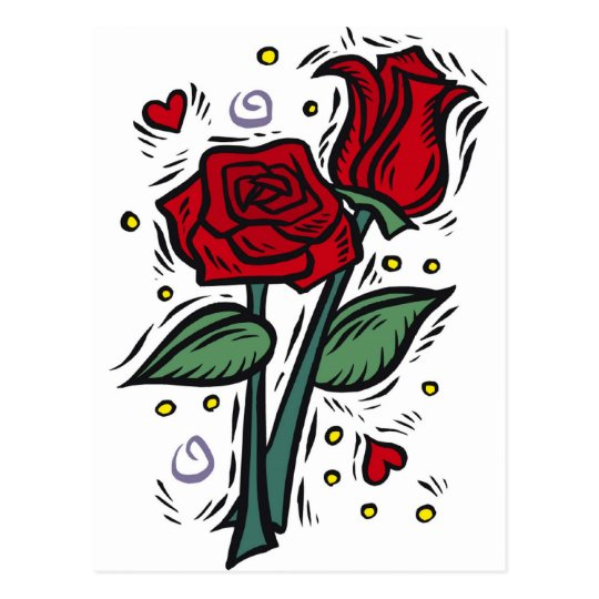 roses, love, pretty, peace. postcard