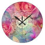Roses lovely design wall clocks