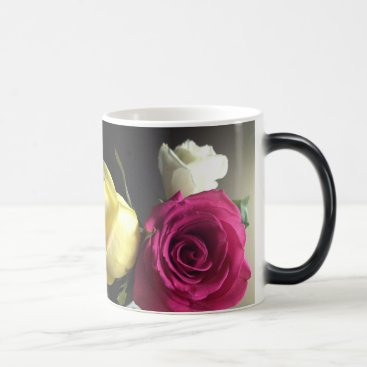 Coffee Themed roses magic mug